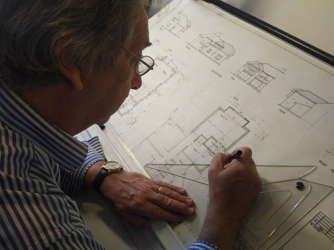 Hand drawn architectural plans by Ian at Focusmont